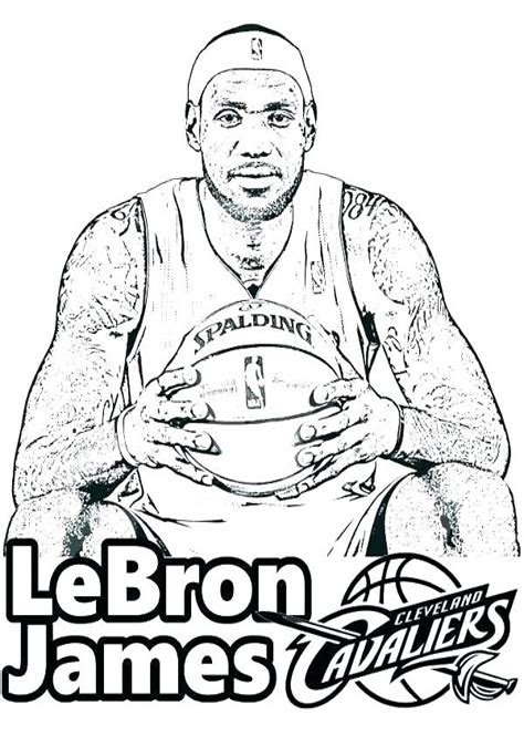 Basketball Coloring Pages To Print Printable Nba