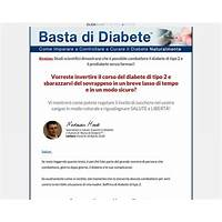 Basta di diabete diabetes treatment italian version 90% commission! promo
