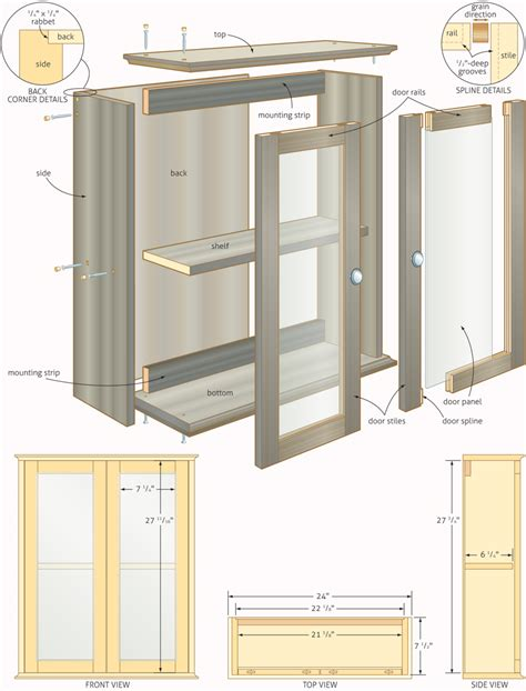 Bathroom cabinet woodworking plans free Image