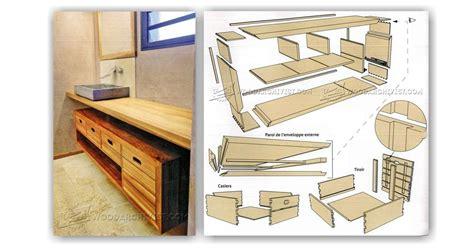 Bathroom vanity plans woodworking Image
