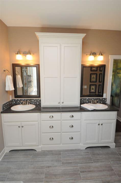 Bathroom Vanity With Linen Cabinet Image
