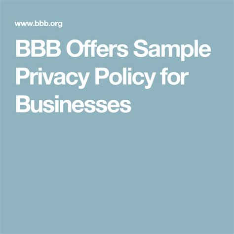 Bbb Privacy Policy Template CV Templates Download Free CV Templates [optimizareseo.online]