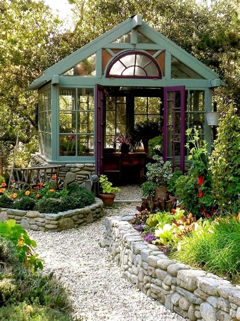 Beautiful garden sheds greenhouses Image