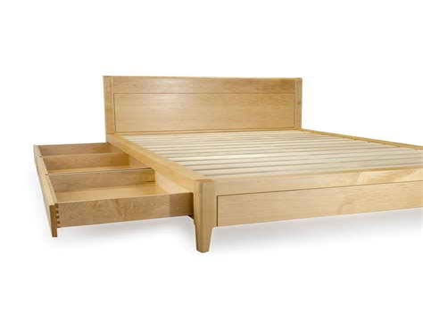 Bed platform plans with storage Image