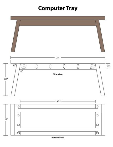 Bed tray plans free Image