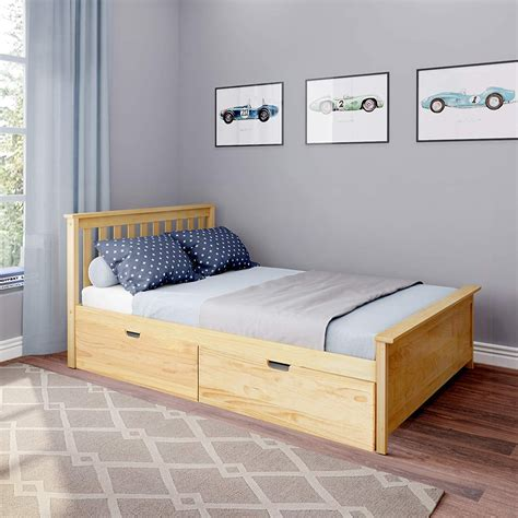 Bed with storage full size Image