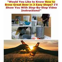 Beer brewing made easy high conversions huge market with video! free trial