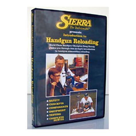Beginning Handgun Reloading Dvd Sierra Bullets Inc