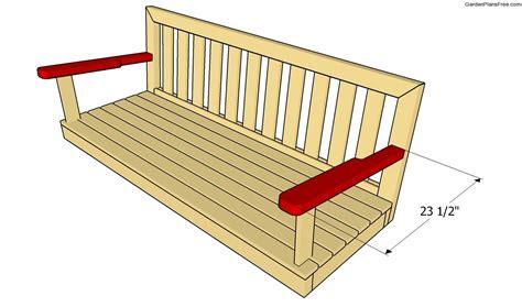 Bench swing plans free Image