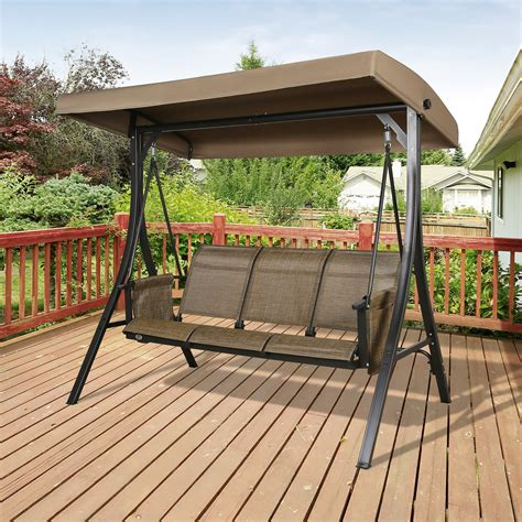 Bench swings with canopy Image