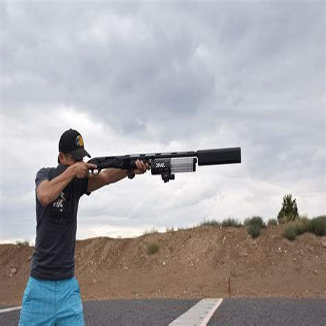 Benelli M4 With Salvo 12 Shotgun Suppressor