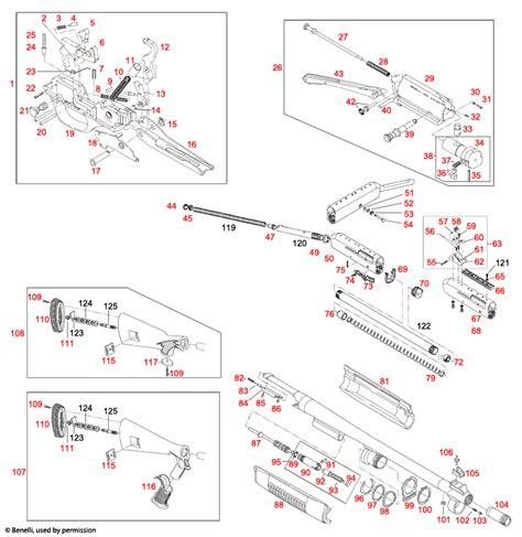 Benelli U S A M4 Schematic - Brownells UK