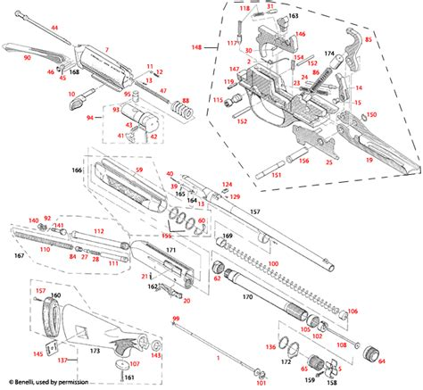 Benelli U S A Super 90 M1 Field Schematic Brownells Uk