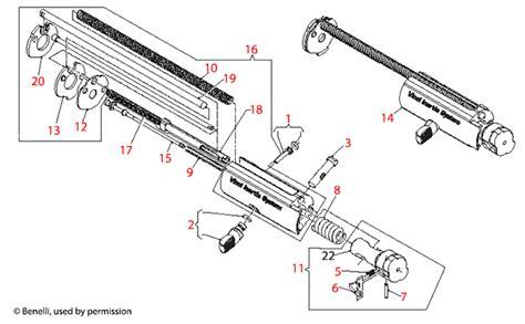 Benelli U S A Super Vinci Bolt Assembly Schematic