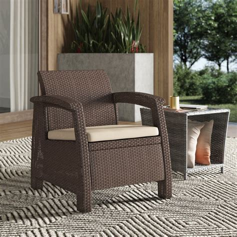Berard All Weather Outdoor Patio Chair with Cushion