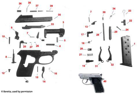 Beretta 3032 Tomcat Schematic - Brownells UK