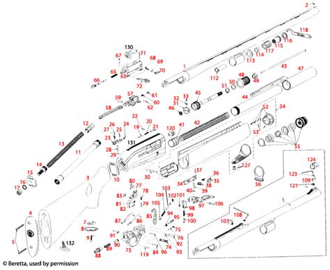 Beretta 391 Urika Teknys Schematic - Brownells UK
