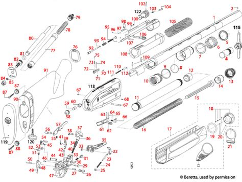 Beretta 391 Xtrema 2 Schematic - Brownells UK