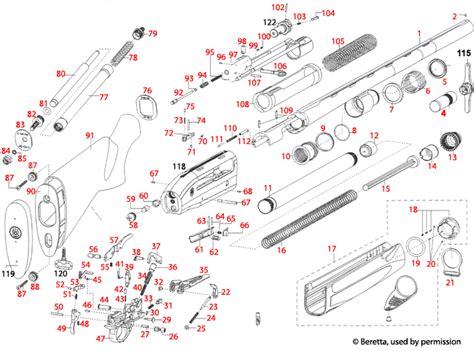 Beretta 391 Xtrema Schematic - Brownells UK