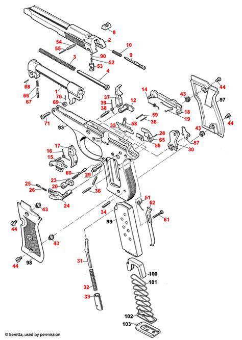 Beretta 86 FS Cheetah Explosionszeichnung - Brownells