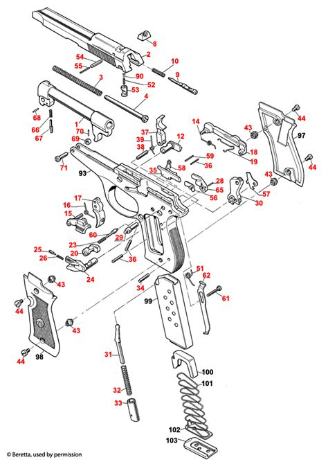 Beretta 86 FS Cheetah Schematic - Brownells UK