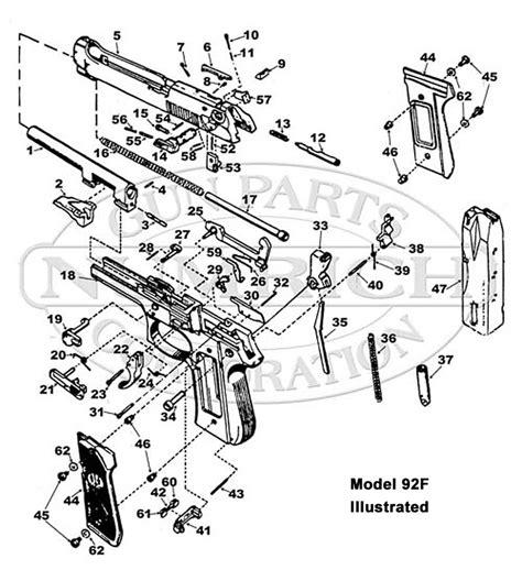 Beretta 92 Parts Schematic Numrich