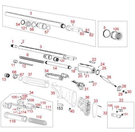 Beretta A300 Xtrema Schematic - Brownells Ireland