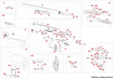 Beretta A400 Xcel Explosionszeichnung Brownells Deutschland