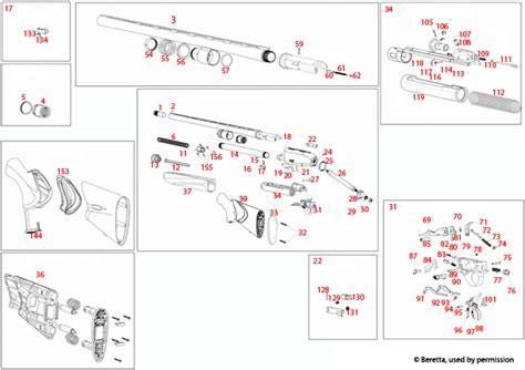 Beretta A400 Xtreme Unico Schematic Brownells Uk