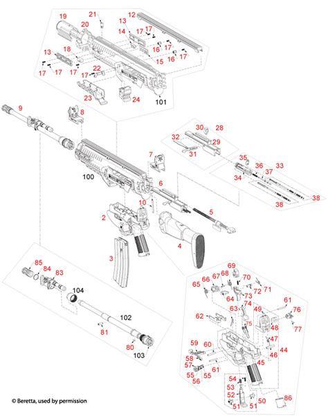 Beretta ARX 100 Schematic - Brownells UK