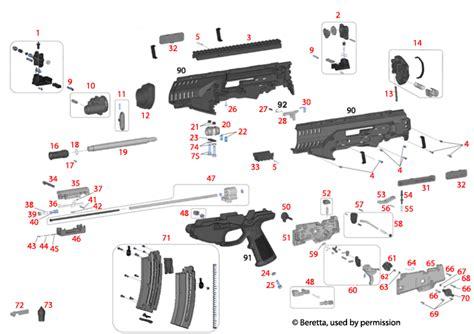 Beretta ARX 160 22 Pistol Schematic - Brownells UK