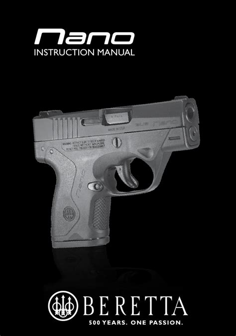 Beretta Bu Nano User Manual By Beretta Usa Corp Issuu