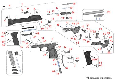 Beretta M9 22 Schematic - Brownells UK