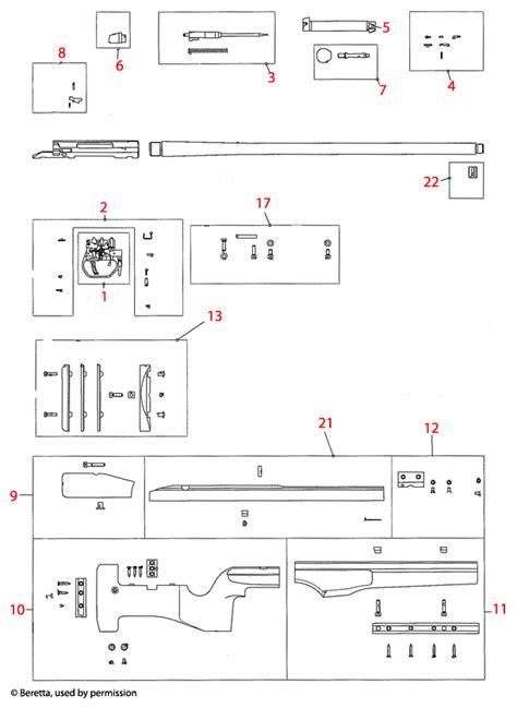 Beretta Trg22 42 Explosionszeichnung Brownells Schweiz