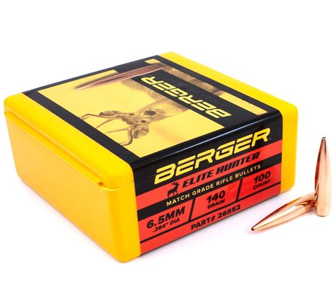 Berger Bullets Berger Bullet 6 5mm 140 Grains Elite Hunter