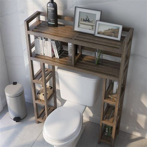 "Bernardston 34.46"" W x 48"" H Wood Bathroom Shelf"