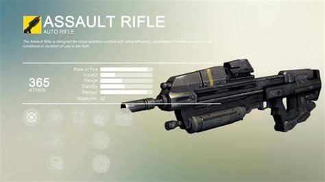 Best Assault Rifle Destiny 1