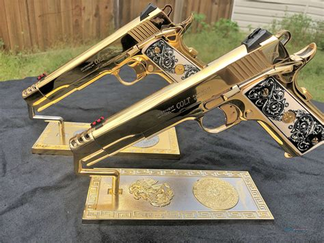 Best Custom Made 1911 Handgun Gold Plated