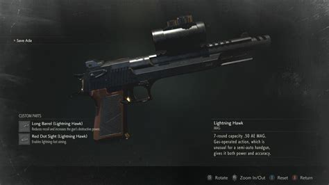 Best Handgun In Re2