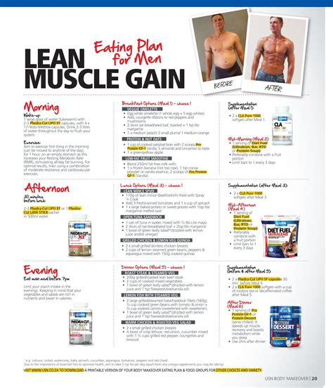 Best Meal Plan To Build Lean Muscle