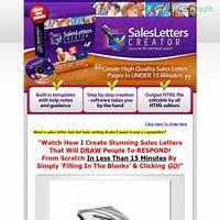 Best reviews of best sales letters creator software at $17 special!