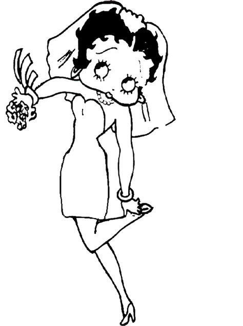 Betty Boop Malvorlagen