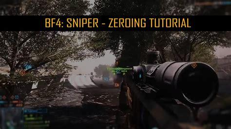 Bf4 Sniper Rifle Zeroing
