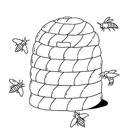 Bienenstock Malvorlage
