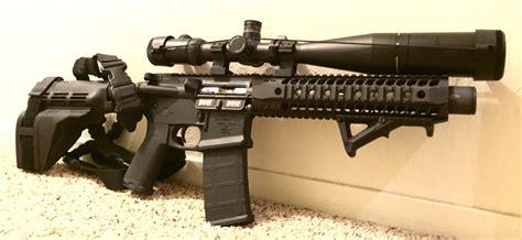Rifle-Scopes Big Ass Scoped Automatic Rifle.
