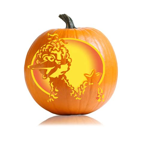 Big bird pumpkin carving patterns Image