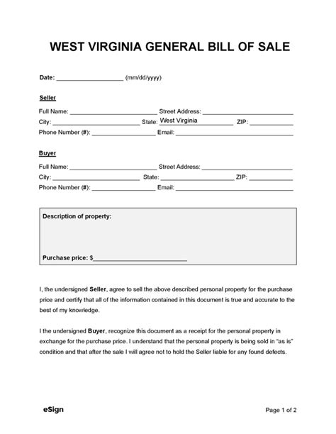 Bill Of Sale Virginia >> Bill Of Sale Form Wv How To Write A Proposal Letter For A Job