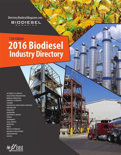 Biodiesel Industry Directory Biodiesel Magazine Reach