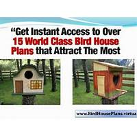 Bird house plans, exclusive designs! discounts