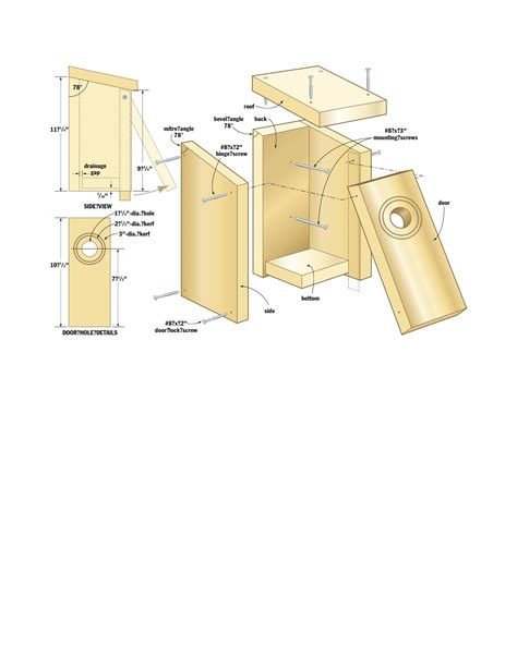 Bird house woodworking plans Image